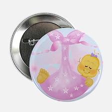 Baby Girl Announcement Button