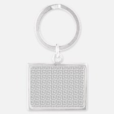 Elegant Gray Greek Keychains