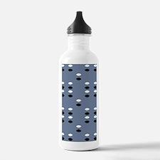 Grey Almond Eye Shapes Water Bottle
