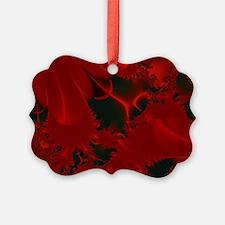 Red Fusions Fractal Art Ornament