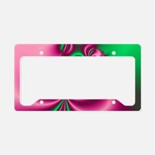 Pink and Green Flow License Plate Holder