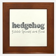Hedgehog Spines Framed Tile
