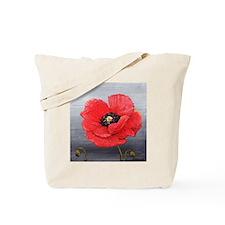 Lonesome Poppy Tote Bag