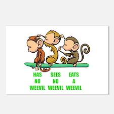 Weevil Monkeys Postcards (Package of 8)