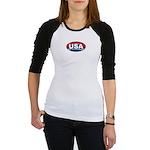 USA Oval Red White & Blue Jr. Raglan