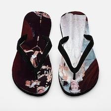 queen elizabeth the second Flip Flops