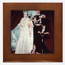 queen elizabeth the second Framed Tile