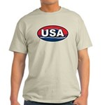 USA Oval Red White & Blue Light T-Shirt