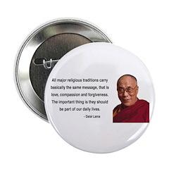 """Dalai Lama 5 2.25"""" Button (100 pack)"""