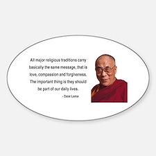 Dalai Lama 5 Oval Decal
