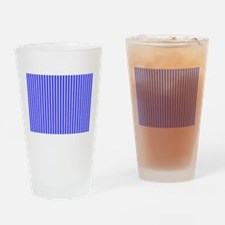 Royal Blue Stripes Beach Feeling 23 Drinking Glass