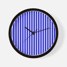 Royal Blue Stripes Beach Feeling 23 Wall Clock