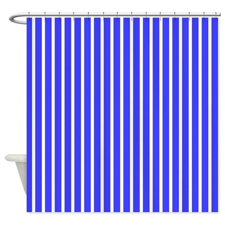 royal blue stripes beach feeling 23 shower curtain by