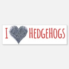 I Heart Headgehogs Bumper Bumper Bumper Sticker