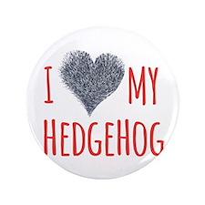 "I Heart My Hedgehog 3.5"" Button"