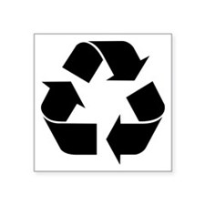 "Recycle Symbol Square Sticker 3"" X 3"""