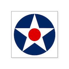 "Usa Air Corp Roundel Symbol Square Sticker 3"""
