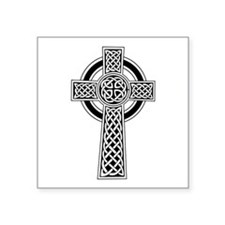 Celtic Knotwork Cross Symbolsquare Sticker 3""