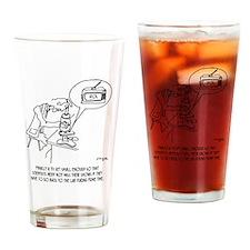 Microscope Cartoon 0745 Drinking Glass
