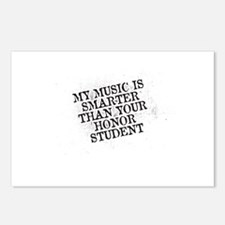 My Music Is Smarter Than Your Honor Student Postca