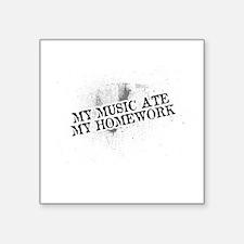 My Music Ate My Homework Sticker