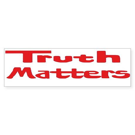 Truth Matters Sticker (Bumper Red)