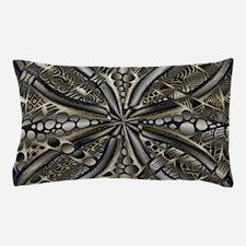 Blue Black Gold Silver Celtic Knot Pillow Case