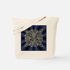 Blue Black Gold Silver Celtic Knot Tote Bag