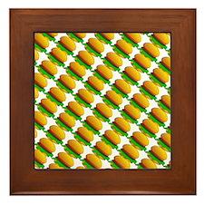 Burger Pattern Framed Tile