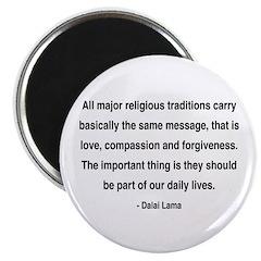 """Dalai Lama 5 2.25"""" Magnet (100 pack)"""