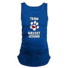 Team Basset Hound Maternity Tank Top
