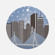 Boston Snowflakes Ornament (round)