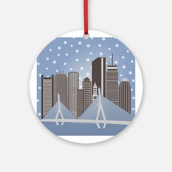 Boston Snowflakes Ornament (round)