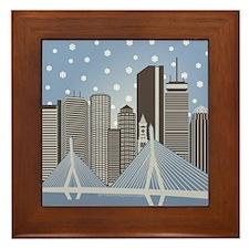 Boston Snowflakes Framed Tile