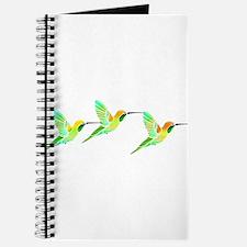 Trio of Lemon Lime Sorbet Hummingbirds Journal