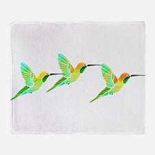 Trio of Lemon Lime Sorbet Hummingbir Throw Blanket