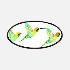 Trio of Lemon Lime Sorbet Hummingbirds Patches