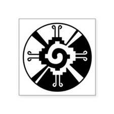 "Hunab Ku Symbol Square Sticker 3"" X 3"""