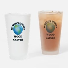 World's Sexiest Wood Carver Drinking Glass
