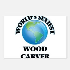 World's Sexiest Wood Carv Postcards (Package of 8)