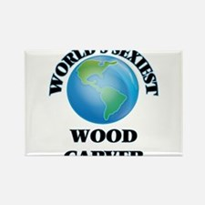 World's Sexiest Wood Carver Magnets