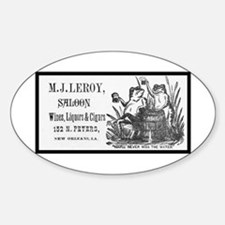 M. J. Leroy's Saloon ~ 1889 Oval Decal