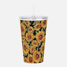 Sunflowers Acrylic Double-wall Tumbler