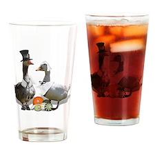 Thanksgiving Fun! Pilgrim Goose And Drinking Glass