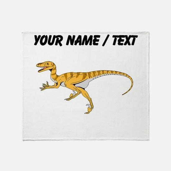 Velociraptor (Custom) Throw Blanket