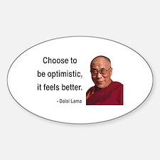 Dalai Lama 6 Oval Decal