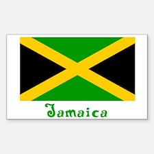Jamaica Flag Rectangle Decal