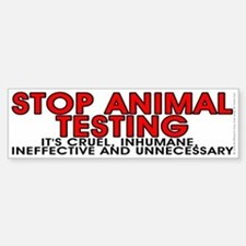 Stop animal testing - Sticker (Bumper)