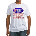 Anti-John Kerry POOR Defense Fitted T-Shirt