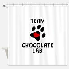 Team Chocolate Lab Shower Curtain
